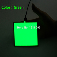DC-3V Cell Box Driver+6 Colors Choose 10X10CM EL Sheet el panel for house decoration,energy saving Holiday lighting Toys