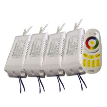 1X High quality RGBW CCT & RGB color adjustable and dimmable led driver 220V input 30-42W with 2.4G RF remote controller