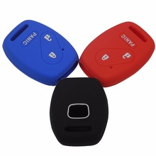 2+1 3 Buttons Silicone Car Key Cover Case For Honda FIT INSIGHT Civic Accord CR-V Ridgeline Car-styling