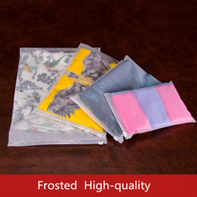 10pcs/lot Matte Clear Plastic Storage Bag Zipper Seal Travel Bags Zip Lock Valve Slide Seal Packing Pouch Cosmetic & Travel Bags(China)