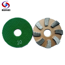 (3JKP8) 3inch Metal grinding pads 80mm Metal diamond polishing pads day or wet rough grinding concrete floor polishing pad(China)