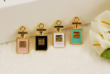 RUIDAY perfume bottle floating Enamel Charms Alloy Pendant fit for necklaces bracelets DIY Female Fashion Jewelry Accessories