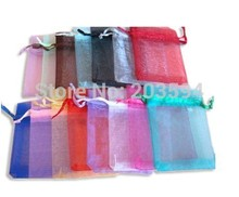 JKFGl! Wholesale 500pcs/lot,,Drawable Organza Bags 9x12cm,Wedding Gift Bags,Jewelry Packing Bags,Wedding Pouches(China)