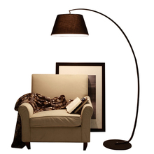 Modern Fishing Floor Lamp simple life black white lampshade floor lamp Living Room reading bedroom standing lamp no fliker bulb(China)