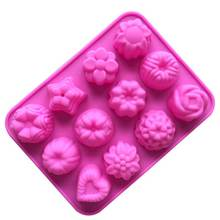 10PCS Cupcake Decoration Baking Tools For Cakes Mold 3D Flowers Silicone Mold Chocolate Molds Pastry Bakery Tools Fondant Baking