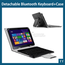 "Universal Bluetooth Keyboard with touchpad Case for Cube iwork10 ultimate 10.1""tablet Pc,Wireless Bluetooth Keyboard Case+gifts"
