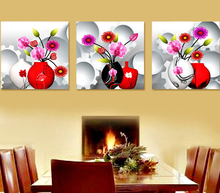 New 5D Butterfly Orchid Vase Diamond Painting Flower  Round Full Round Pasted Stitch Mosaic Crystal Embroidery