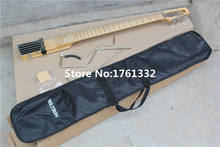 Hot sale factory custom 5 strings travel bass guitar with maple body neck,maple fingerboard,1 pickups,with free bag