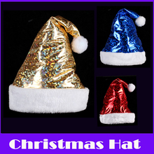 Merry Christmas! 2pcs/lot Christmas Hats Santa Claus Hat Adults&children Christmas Dress up Soft and Velvety Plush Natal Gifts