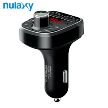 Nulaxy Car MP3 Player Radio Wireless Bluetooth FM Modulator Support U Disk TF Card Car Kit USB Charger For Phone FM Transmitter(China)