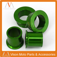 CNC Front and Rear Wheel Hub Spacers For Kawasaki KX125 KX250 KXF250 KXF450 KX250F KX450F Motorcycle Motorcross Dirt Bike Enduro