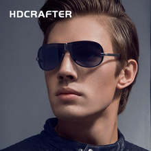 HDCRAFTER Brand Rimless Fashion Cool Sunglasses Polarized 100% UV400 protection Oculos de sol masculino Eyewear(China)