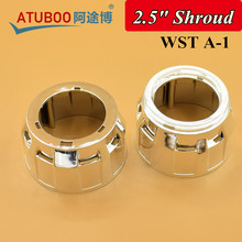 WST A-1,Hid projector lens shroud chrome mask for 2.5 inch projector with angel eye cover car headlight retrofit cap