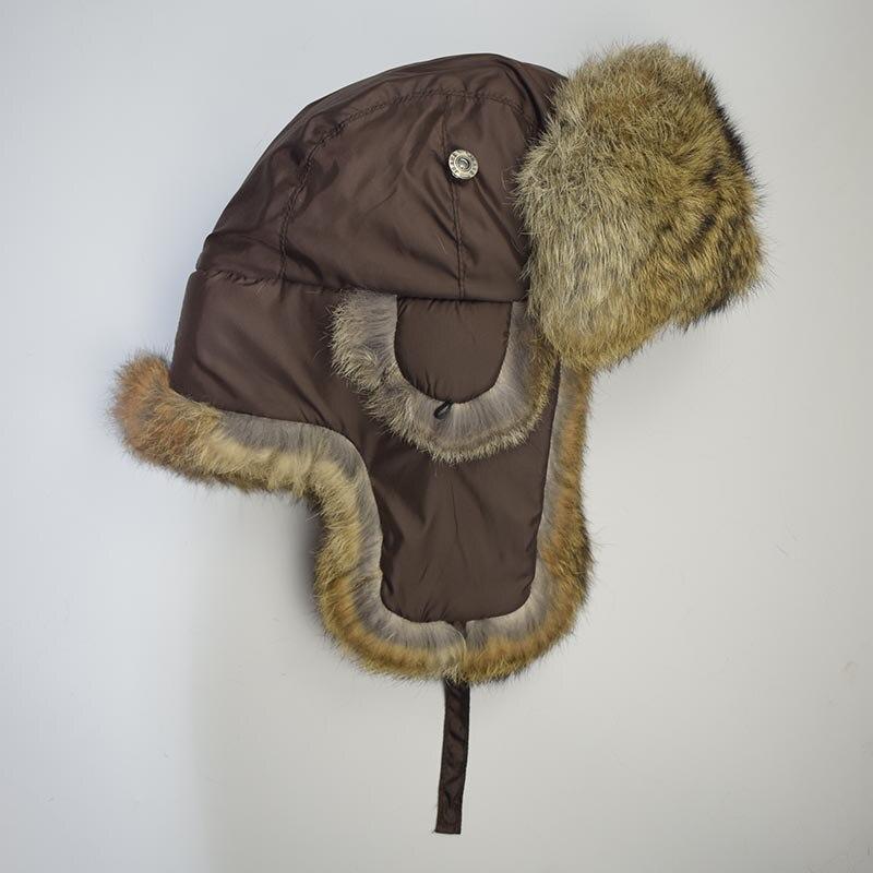 rabbit fur hat brown