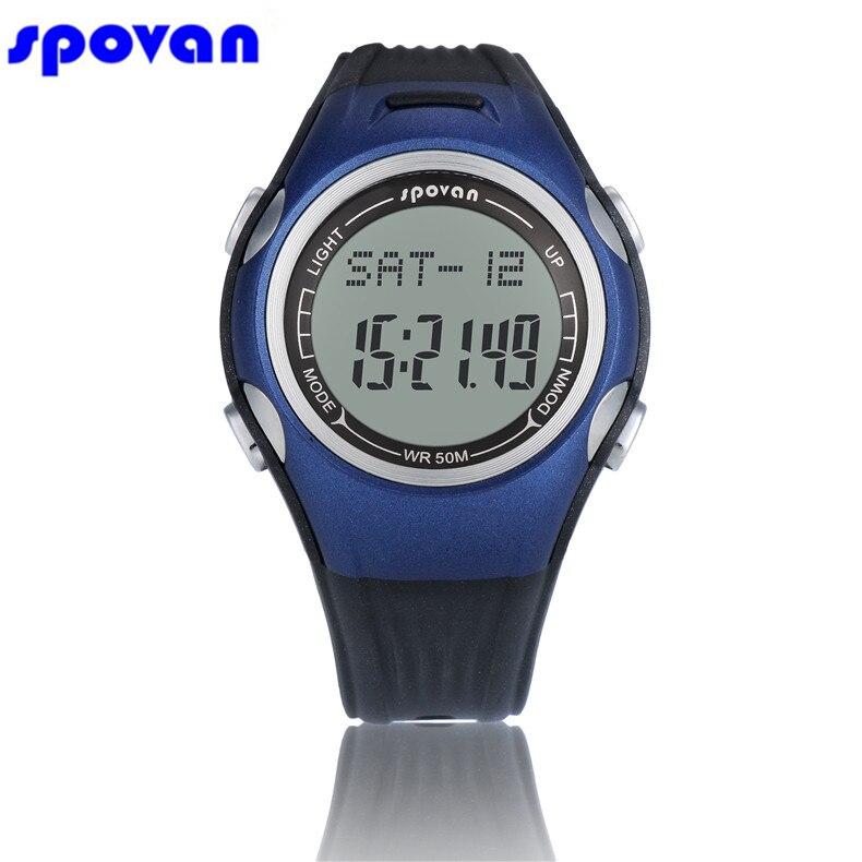 SPOVAN Women Men Sport Watch Waterproof 3D Pedometer Calorie Burned Calculator Stopwatch Outdoor Running Digital Clock Saat 2017<br>