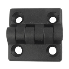 Black 2 Leaves Reinforced Plastic Bearing Butt Hinge