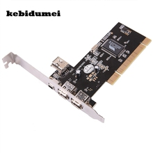 kebidumei 3 Ports Firewire IEEE 1394 4/6 Pin PCI Controller Card Adapter for HDD MP3 PDA(China)