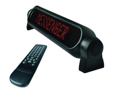 Russian Support ,Car Advertising Led Moving Sign 7X50 Pixel 12V Red Running Scrolling Message
