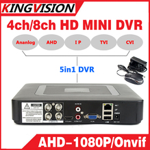 Smar Mini 4/8CH Full D1 H.264 HDMI Security System CCTV DVR 4/8 Channel 720P 1080P NVR Hybrid DVR Recorder Mobile DVR RS485