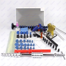 Auto Body Paintless Dent Removal Repair Tools Kits Dent Lifter Slide Hammer Pro Tabs Tap Down Reflector Board(China)