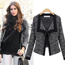 AliExpress explosion models 2016 autumn new European and American women's fashion Slim small suit jacket cardigan