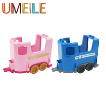 UMEILE Duplo Original Classic Carriage Wagon Princess Prince Educational Kids Toys Brinquedos Play House Game Boys Girl Gift