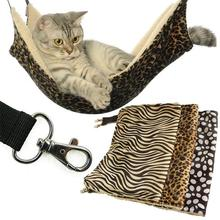 PECUTE Cat Hammock Hamac Pour Cha Cat Supplies Pet Hanging Bed Cushion Mat Iron Cage Dog Pet Supplies Air Bed Warm Nest(China)