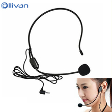 2017 Mini Microphone microfone condensador microfono For Voice Amplifier Speaker Professional Stand Wired Headset Microphone