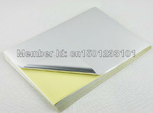 50 sheets no printing A4 blank matte silver self-adhesive label sticker paper for laser printer