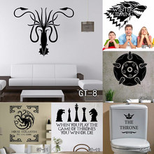 13 style Multi-Size Stark Vinyl Decal Game of Thrones Sticker Fashion TV Poster Wall Stickers living Room Home Decoration Free S(China)