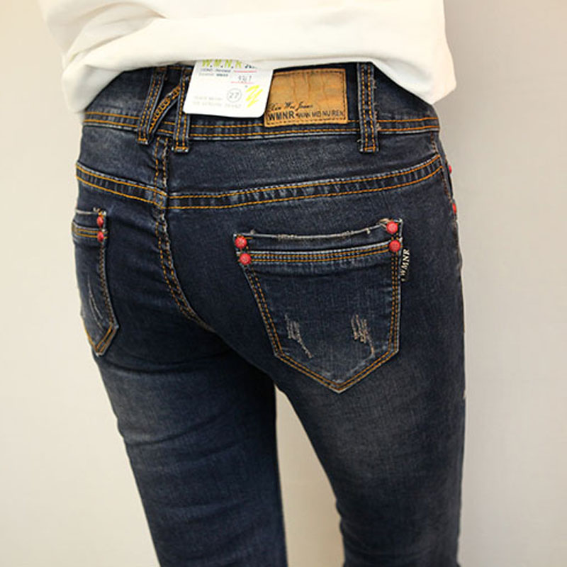 Slim Jeans For Women Skinny High Waist Jeans Woman Blue Denim Pencil Pants Stretch Waist Women Jeans summerОдежда и ак�е��уары<br><br><br>Aliexpress