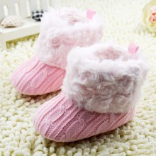 Infant Baby Crochet/Knit Boots Booties Toddler Girl Winter Snow Crib Shoes