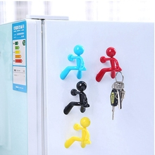 Creative Magnetic Man Shaped Key Holder Wall Key Pete Magnetic Sticker Fridge Magnets Tips Holder Home Office Kitchen