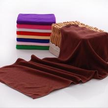 Wholesale cheap 30*70cm microfiber high absorbent dry hair towel solid color hair salon towels quick dry microfiber hair towels