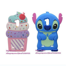 For ZTE Blade V6 Plus 3D Cute Cartoon Bule Stitch Ice Cream Soft Silicone Cell Phone Case Cover For ZTE Blade V7 Lite(China)