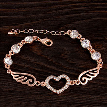 Atreus Charming 1pc Enchanting New Sale Gold Color Amazing Crystal Nice Woman's Bracelet