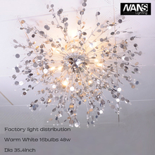 NANS Modern crystal celling light lustres de G4 LED bulb 48watt light fixtures and Living Room christmas lights Indoor Lamp