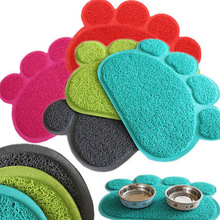Hot Cute Paw Pet Dog Cat Feeding Mat Pad Pet Dish Bowl Food Water Feed Placemat Puppy Bed Blanket Table Mat Easy Wipe Cleaning(China)