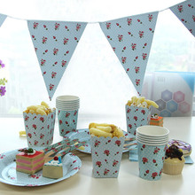 Best Birthday Party Supplies Paper Dinnerware Set Disposable Plates and Cups Popcorn Boxes Decorative Triangular Banner Flags(China)