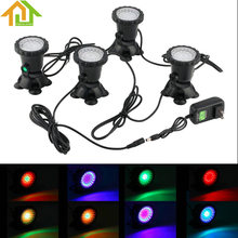 4pcs Waterproof Underwater Light Color LED Spotlight Lamp Garden Fountain Fish Tank Pool Pond Swimming Pool Aquarium Lighting(China)