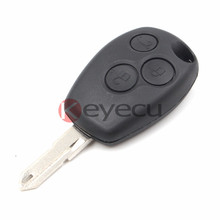 3 Button Remote Key FOB 43MHz With Transponder Chip PCF7946+ Uncut Blank Blade NE73 For Renault Clio Modus Master Twingo