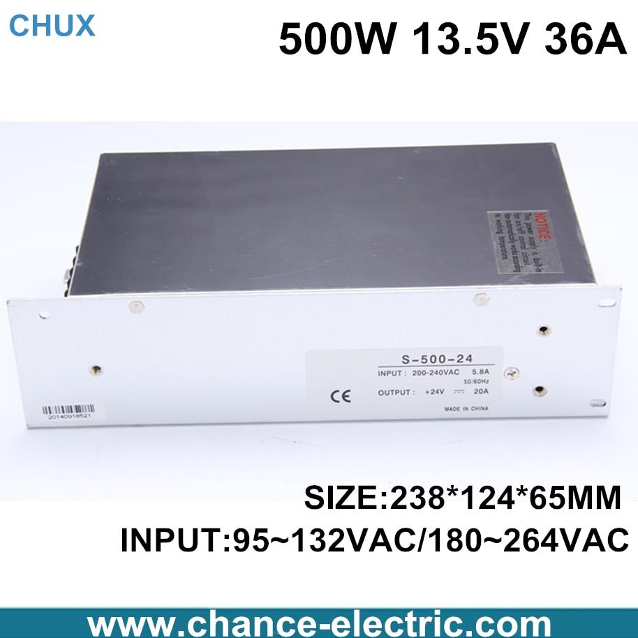 13.5v power supply 500W 36A AC - DC 13.5V (S-500-13.5) for LED strip<br>