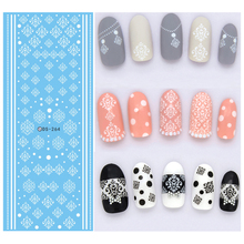 3Pcs Winter Style White Snowflake Nails Art Sticker Water Transfer Nail Design Stickers Decals Nail Decoration Manicure Tools