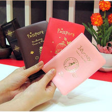 JETTING 1Pc Simple Travel ID Card Holder Skin Faux Leather Passport Cover Case For Protecting card