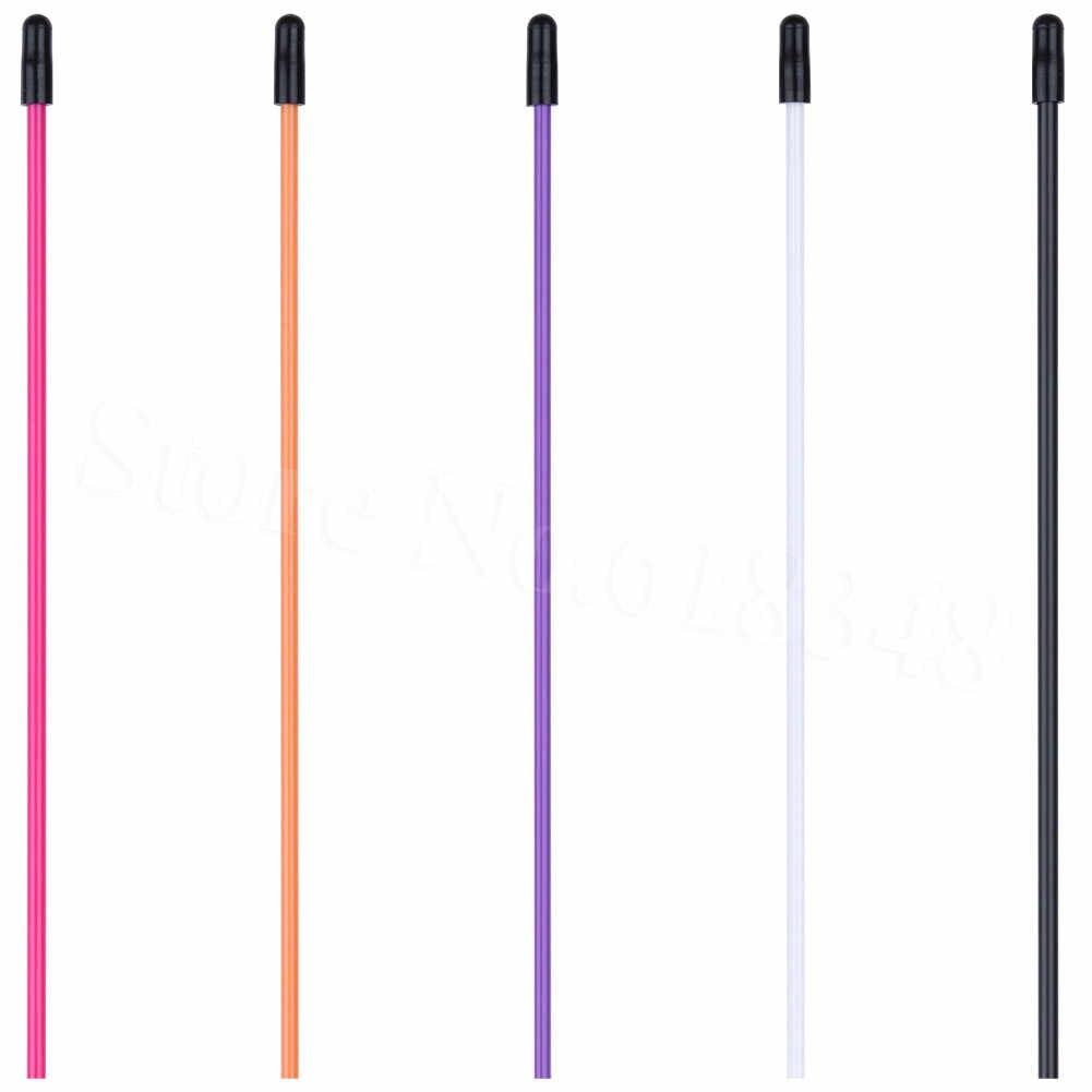 5Pcs Plastic Tubes Antenna Pipe 25.3x0.6cm for RC HSP 1:10 94101 94120 Black