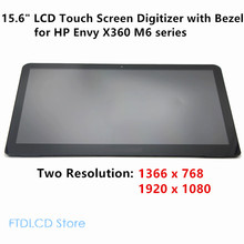 LCDOLED 15.6'' LCD Touch Screen Digitizer with Bezel Laptop Assembly For HP Envy X360 M6-W M6-W101DX W102DX W103DX W104DX W105DX(China)