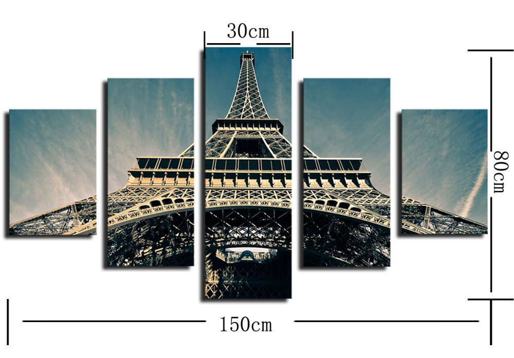 Large-HD-canvas-wall-pictures-of-looking-Eiffel-Tower-modern-city-paris-landscape-combined-painting-free