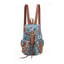 Women National Wind Printing Drawstring Backpacks Ladies Casual Backpack Girls Shopping Backpack Female LeisureTravel La Mochila