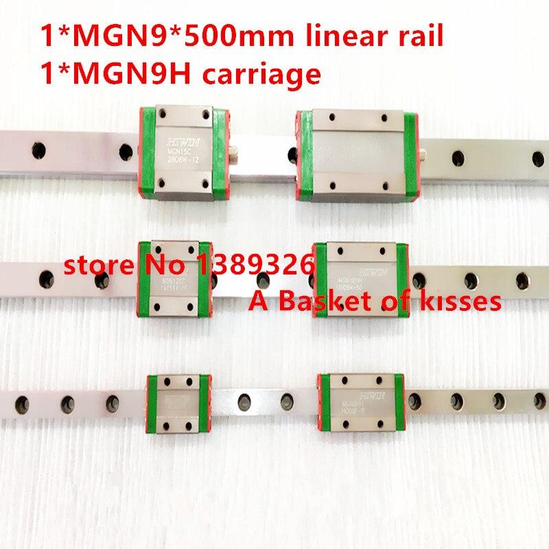 Продвижение новый 9-миллиметровый линейный MGN9 L гида = 500-миллиметровый рельс + блок MGN9H CNC для 3D принтера