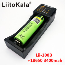 original panasonic 18650 lithium-ion battery 3400 mAh NCR18650B 3.7 V Rechargeable batteries+Lii-100B charger - liitokala Factory Store store